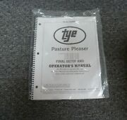 Tye 104-4204 Pasture Pleaser No-till Drill Final Setup And Owner Operator Manual