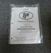 Tye 104-4404 Pasture Pleaser No-till Drill Final Setup And Owner Operator Manual