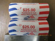 2009 Us Mint William Harrison P And D Presidential Dollars Roll Set Not Bank Rolls