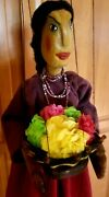 Rare Vintage Mexican Guatemalan Marionette String Puppet Handmade Anna Franklin