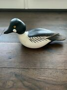 Ducks Unlimited Special Edition Randy Tull Signed Wood Duck Decoy Black Winged