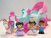 Fisher-price Little People Royal Princess Coach Mia Horse 3 Figures