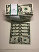 2003 Limited Edition 5 New 2 Dollar Bill Note Consecutive, Uncirculated