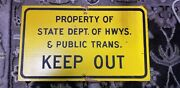 1950s Tx Dept Of Hwys And Public Safety Wood Road Sign Pre Dps