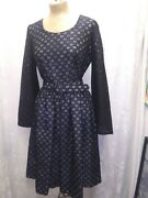 Vintage 1970and039s Black Eyelet Lace White Lined Cocktail Dress By Paul Norton S