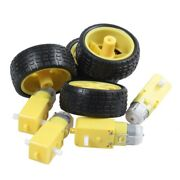 20x4 Pcs For Arduino Smart Car Robot Plastic Tire Wheel With Dc 3-6v Gear Motor