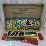 Vintage 1950s Jaymar Crow Shoot Game Complete With 3 Toy Rifles , 5 Crows And Box