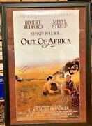 Out Of Africa Movie Poster Signed By Meryl Streep Robert Redford With Coa