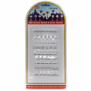 Model Power Ho Scale Road And Rail Signs 12 Pc. Mpc 1454