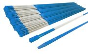 Pack Of 2500 Walkway Poles 48 Long, 5/16 Diameter, Blue With Reflective Tape