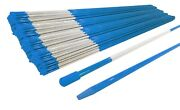 Pack Of 2500 Walkway Poles 48 Long 5/16 Diameter Blue With Reflective Tape
