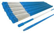 Pack Of 4000 Walkway Poles 48 Long 5/16 Diameter Blue With Reflective Tape
