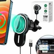 15w For Iphone 13 12 Pro Max Mini Mag Safe Magnetic Car Mount Wireless Charger
