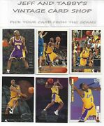 Kobe Bryant Cards Fleertopps Skybox Hoops And Stadium Club You Pick From Scans