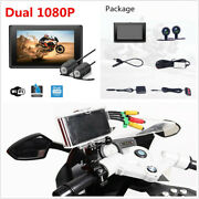 3.0'' Wifi Real Fhd Dual 1080p Motorcycle Dash Cam Front And Rear View Dvr Gps Kit