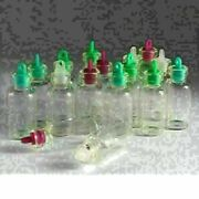 Lot 3ml 16x35 Mm Bottles Wholesale Small Empty Clear Glass With Rubber Stopper