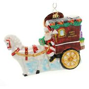 Radko Hold Your Horses Santa 5 X 7 Stage Coach Delivery Ornament 1019327
