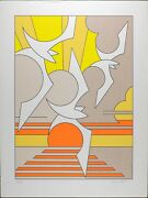 Signed By Thomas Barrett Vintage Serigraph Print Contemporary Abstract Litho