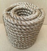 1 X 100and039 Treated Manila Rope Dock Tree Work Boat Farm Nautical Crafts Rodeo