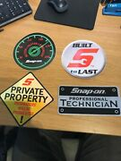 Snap On Stickers Set 4 Large New
