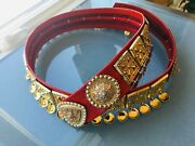 New 32.5 Norwegian 830s Solje Silver Belt Red Leather Norway Shockingly Lovely