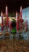 1950 Vintage Pair Christmas Triple Electric Candelabra Lights With Origin Boxes