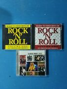 Hard To Find Hits Of Rock And Roll, Vol. 1 And 2 Plus Classic Rock Gold 2 Cds