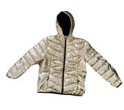 New Spyder Womens Water Resistant Winter Puffer Jacket Rose Gold Size Large