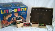 Vintage 1967 Hasbro Lite-brite Model 5455 With Colored Pegs