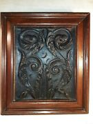 Antique French Or Dutch 16th-17th Century Carved Oak Panel