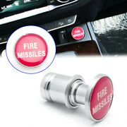 Universal Fire Missiles Push Button Red Car Cigarette Lighter Replace Accessory