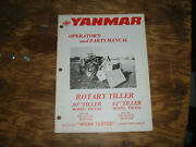 Yanmar Ym-t30 Tiller Ym-135/155 Tractor Operator Maintenance Part Catalog Manual