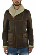 Dsquared2 Brown Menand039s Coat Long Leather Pockets - Mod. S74aa0044sx7948143