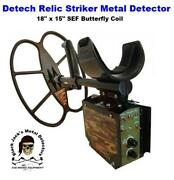 Detech Relic Striker Metal Detector W/ 18 X 15 Sef Butterfly Coil Auth. Dlr.