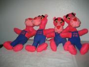 Vintage 1980 United Artist Mighty Star 18 Pose-able Plush Stuffed Pink Panther