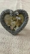5 Avon Gift Collection Victorian Pewter Heart Shaped Picture Frames New In Boxes