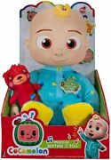Free Shipping 2 Cocomelon Musical Bedtime Jj Doll Soft Plush Tummy And Roto Head