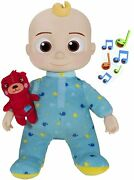 """Brand New 2 Available Cocomelon Jj Doll Musical Bedtime 10"""" Boy And Teddy Bear Toy"""