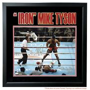 Mike Tyson Michael Spinks Dual Signed Framed 16x20 Photo D/20 Inscribed Jsa Coa
