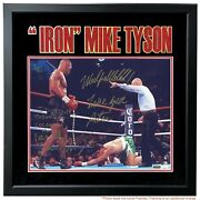 Mike Tyson Peter Mcneeley Dual Signed Framed 16x20 Photo D/10 Inscribed Jsa Coa