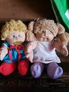 Wow Vtg Cabbage Patch Doll 71r5270 1978 1982 Blonde Green Eyes Coleco Hong Kong