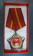 North Vietnam Vc Victory Order Silvered Gold Plated In Original Box Old Version