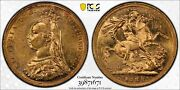 1888m Sovereign Jubilee Head Mcd177a S-3867a L1 Type In Pcgs Au58
