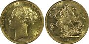 1881m Sovereign St.george Reverse Mcd161a S-3857a No Bp Short Tail In Pcgs Ms62