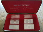 1973 The Silver Mint The Silver Nations Ingots Set Beautiful Silver Set
