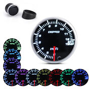 2and039and039 52mm Car Pointer Exhaust Gas Temperature Temp Gauge ℃ Ext Meter 10 Color Led