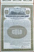 Chicago And Eastern Illinois Railway Co. 1921 Railroad 500 Gold Bond Certificate