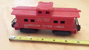 American Flyer Train Red 1958-60 24636 Radio Caboose W / Scarce Solid Couplers