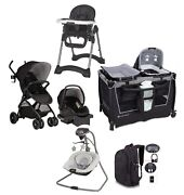 Baby Growing Stroller Combo With Car Seat Playard Swing Chair Bag Travel System