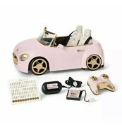 New American Girl Rc Sports Car Pink Gold Remote Control 2-seater For 18 Dolls